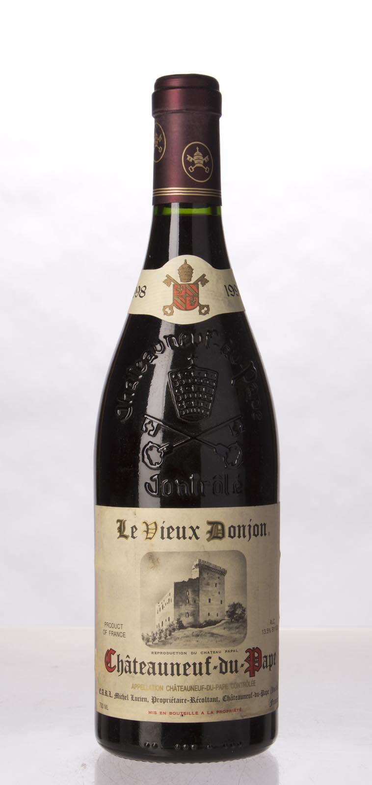 Vieux Donjon Chateauneuf du Pape 1998, 750mL (WA95, WS97) from The BPW - Merchants of rare and fine wines.