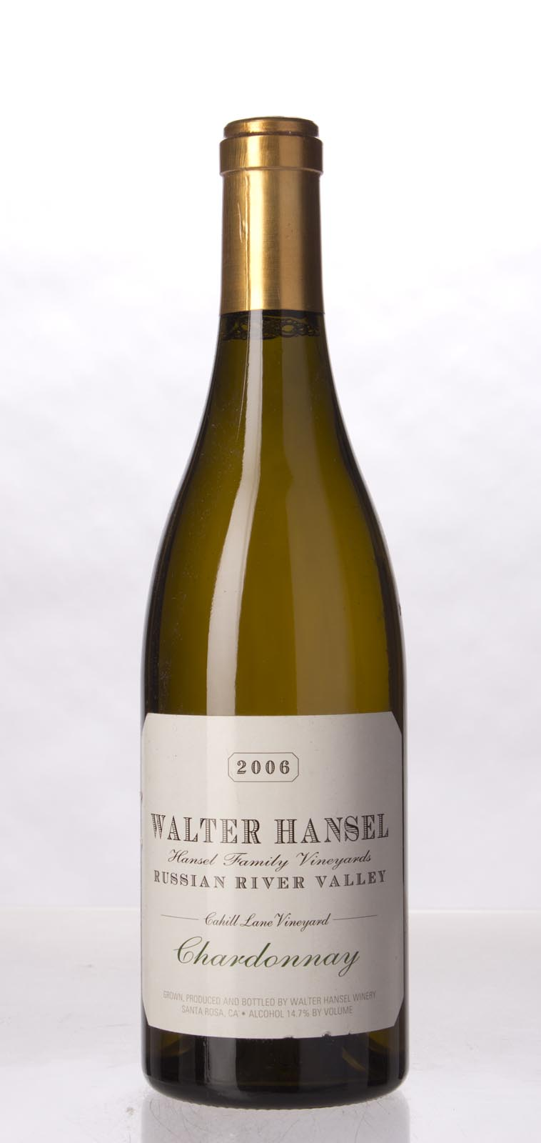 Walter Hansel Winery Chardonnay Cahill Lane 2006, 750mL (WA92) from The BPW - Merchants of rare and fine wines.