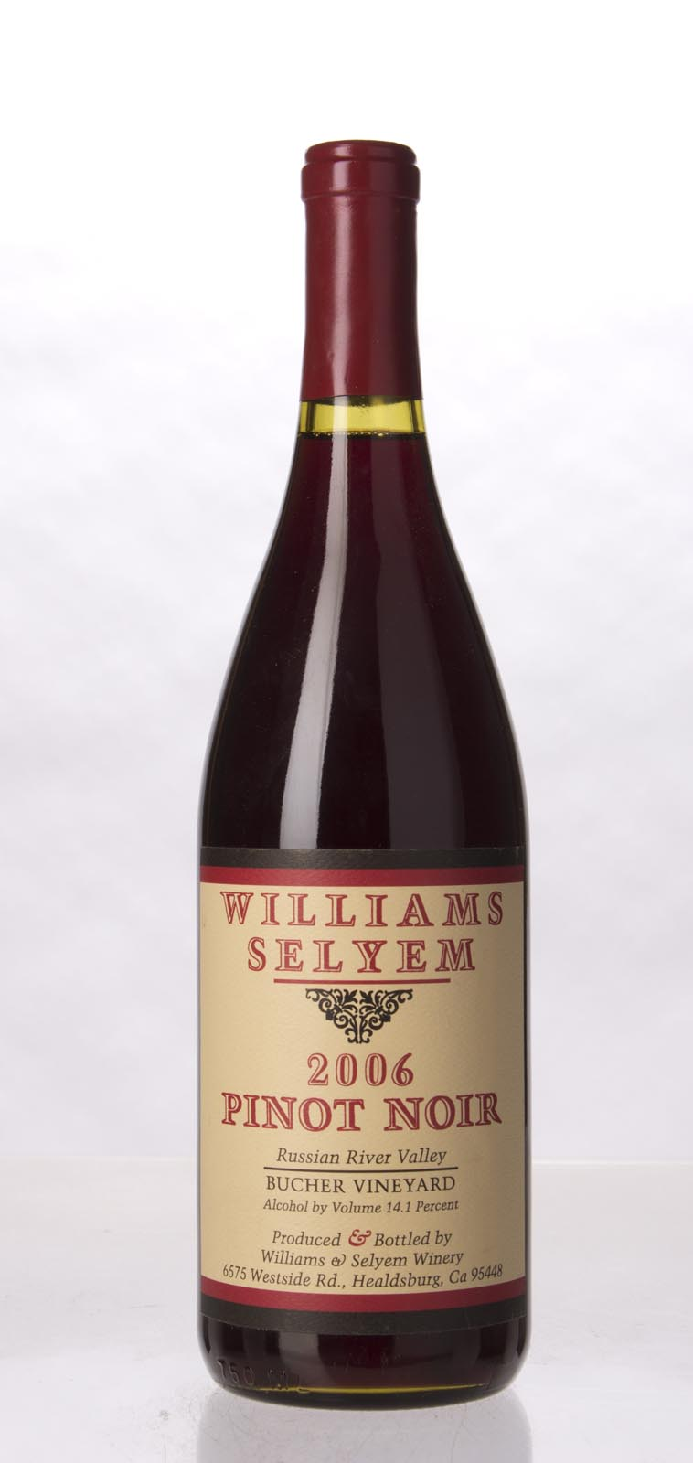 Williams Selyem Pinot Noir Bucher Vineyard 2006, 750mL (ST90) from The BPW - Merchants of rare and fine wines.