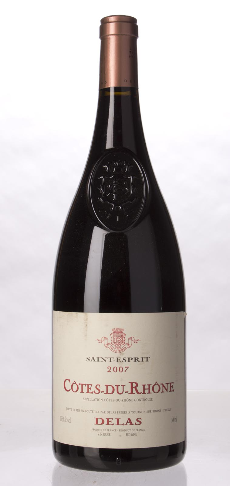 Delas Freres Cotes du Rhone St. Esprit 2007, 1.5L (WA90) from The BPW - Merchants of rare and fine wines.