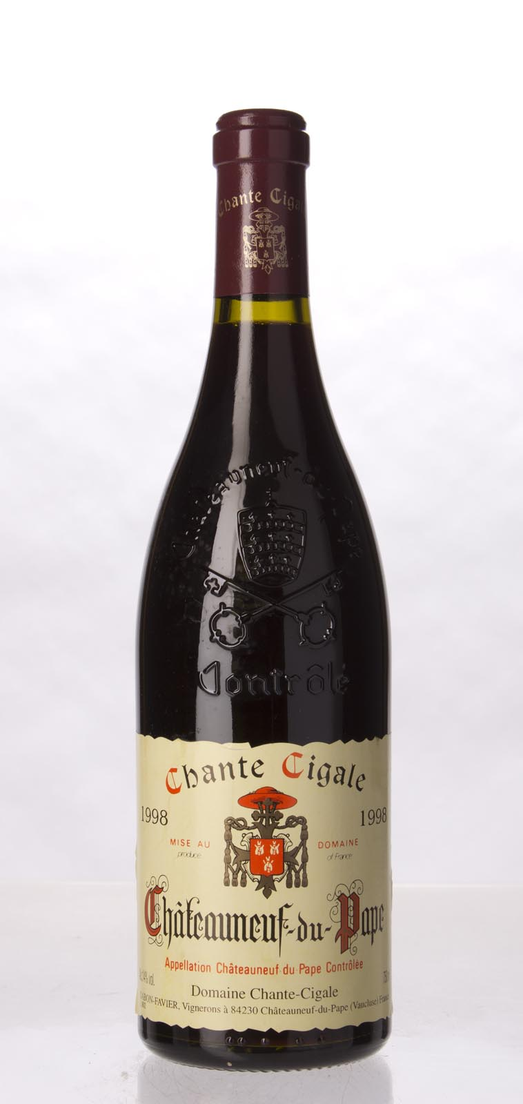 Domaine Chante Cigale Chateauneuf du Pape 1998, 750mL () from The BPW - Merchants of rare and fine wines.