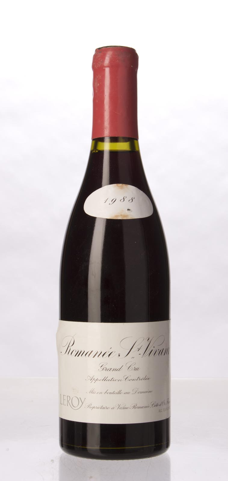 Leroy Romanee St. Vivant 1988, 750mL (BH96, WA98) from The BPW - Merchants of rare and fine wines.