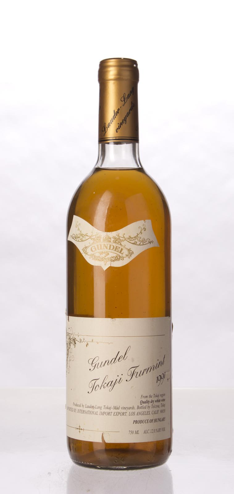 Gundel Tokaji Furmint 1991, 500mL () from The BPW - Merchants of rare and fine wines.