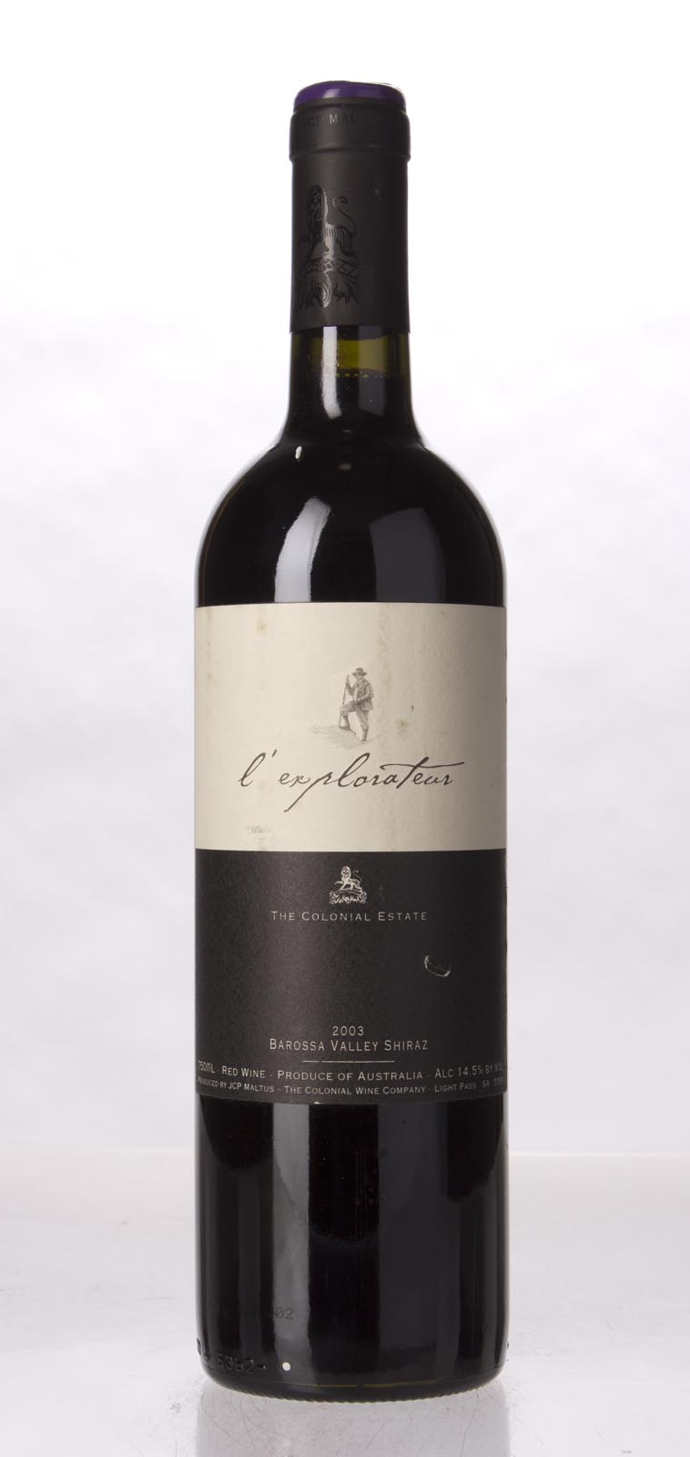 The Colonial Estate Shiraz l`Explorateur 2003, 750mL (WA91) from The BPW - Merchants of rare and fine wines.