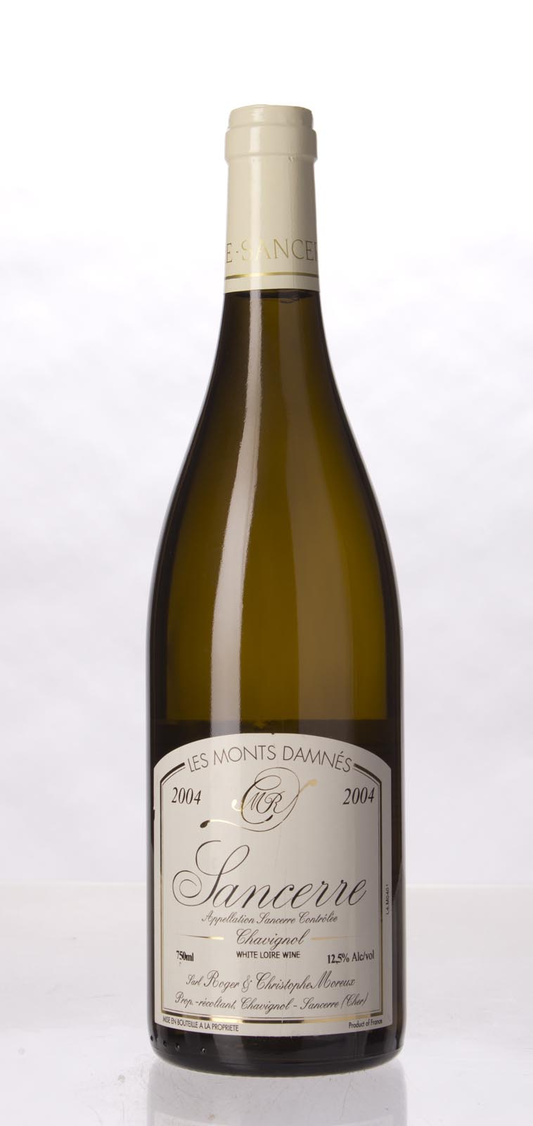 Roger et Christophe Moreux Chavignol Sancerre les Monts Damnes 2004, 750mL () from The BPW - Merchants of rare and fine wines.