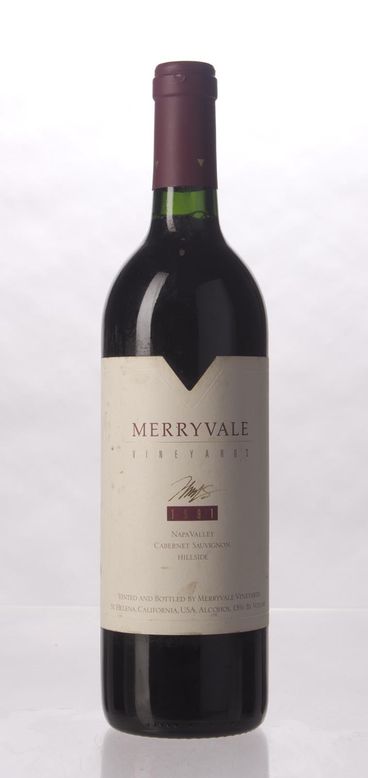 Merryvale Vineyards Cabernet Sauvignon Hillside 1991, 750mL () from The BPW - Merchants of rare and fine wines.
