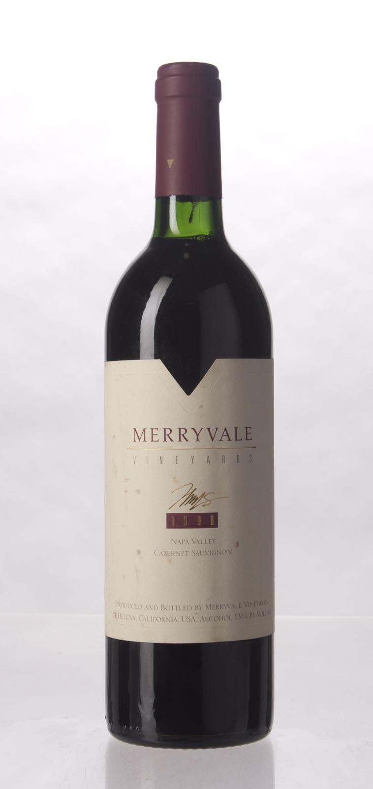 Merryvale Vineyards Cabernet Sauvignon Napa Valley 1990, 750mL () from The BPW - Merchants of rare and fine wines.
