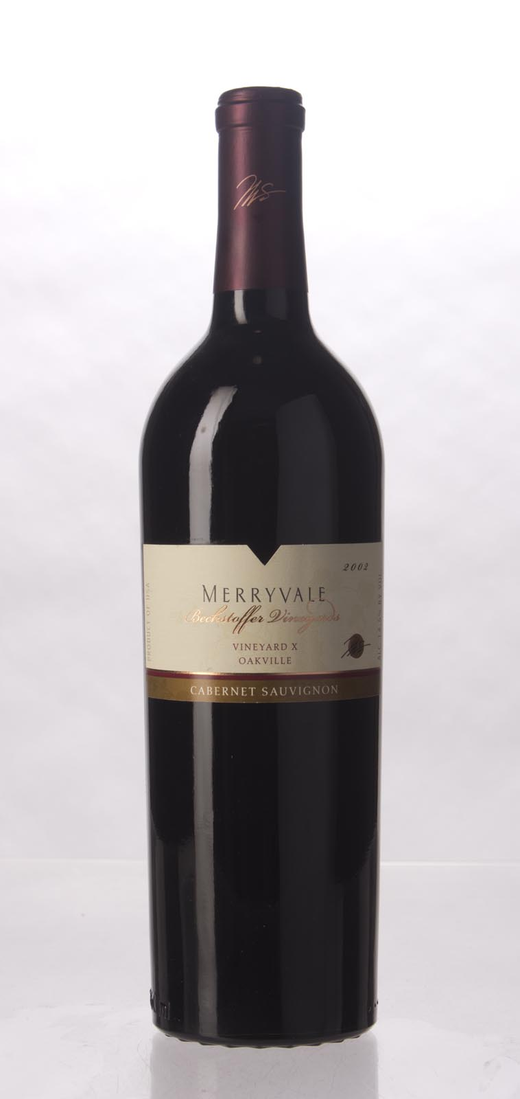 Merryvale Vineyards Cabernet Sauvignon Beckstoffer Vineyard X 2002, 750mL () from The BPW - Merchants of rare and fine wines.