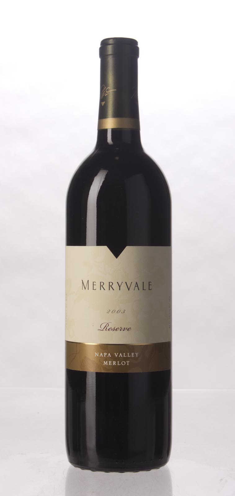 Merryvale Vineyards Merlot Reserve 2003, 750mL () from The BPW - Merchants of rare and fine wines.