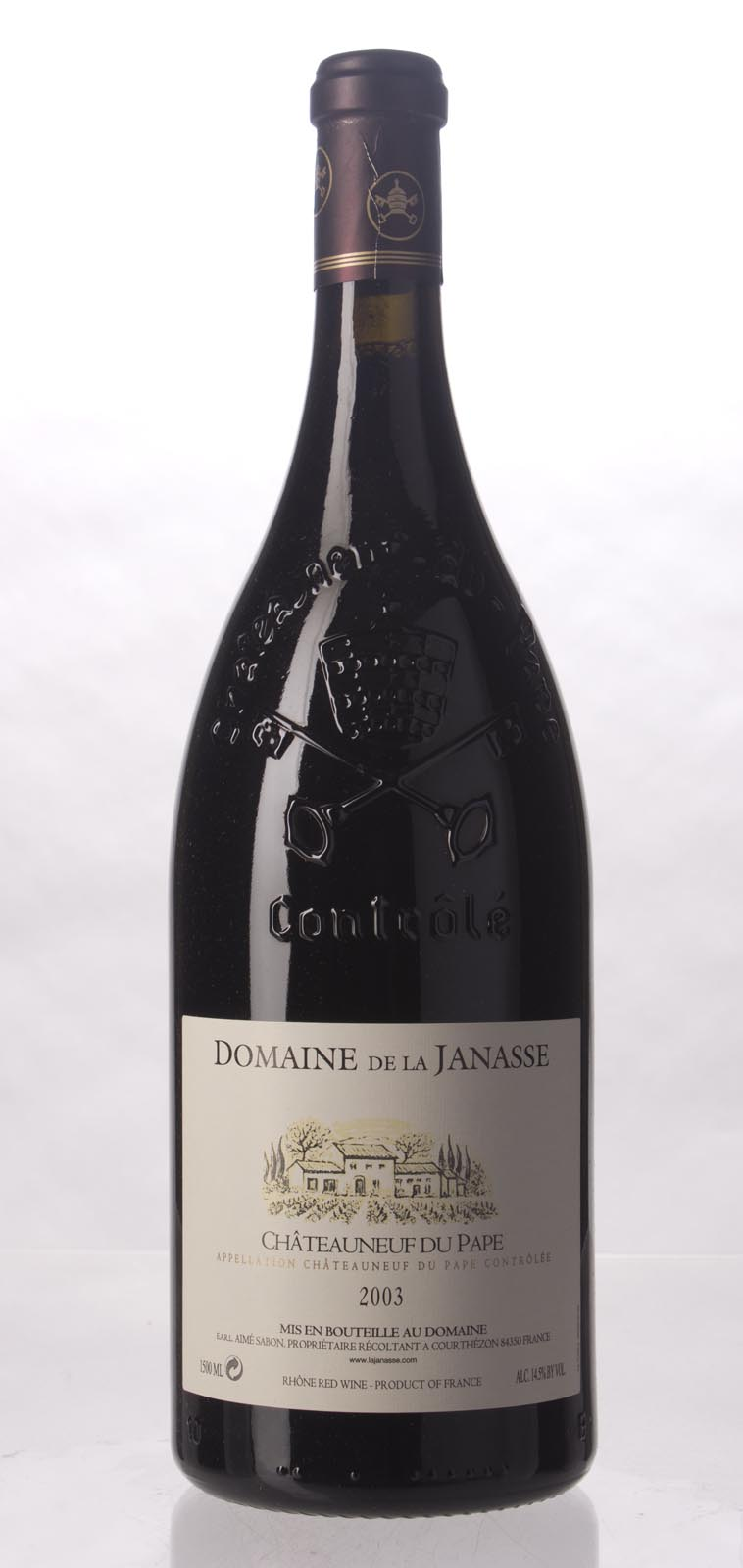 Domaine de la Janasse Chateauneuf du Pape 2003, 1.5L (WS92) from The BPW - Merchants of rare and fine wines.