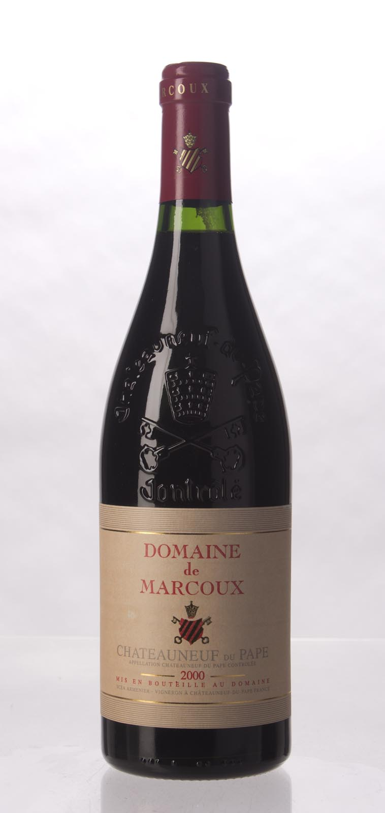 Domaine de Marcoux Chateauneuf du Pape 2000, 750mL (WA92, ST92) from The BPW - Merchants of rare and fine wines.