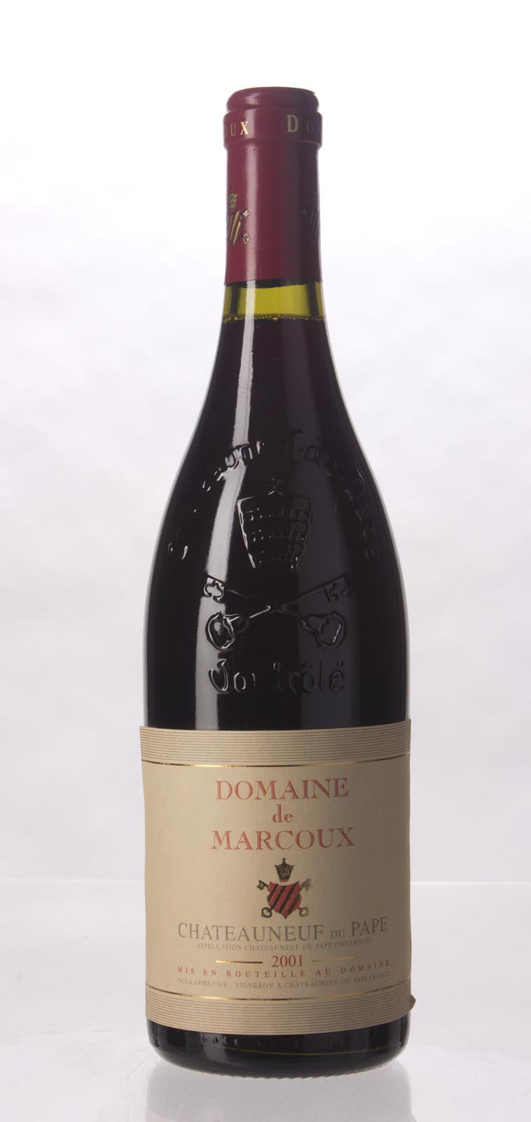 Domaine de Marcoux Chateauneuf du Pape 2001, 750mL (ST92) from The BPW - Merchants of rare and fine wines.