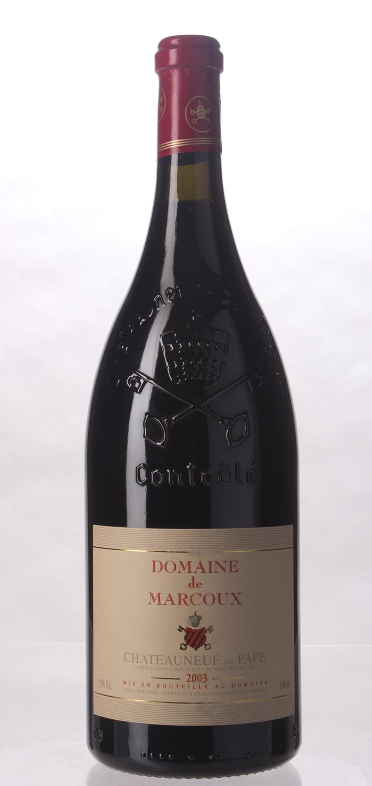 Domaine de Marcoux Chateauneuf du Pape 2003, 1.5L (WA95, ST93) from The BPW - Merchants of rare and fine wines.