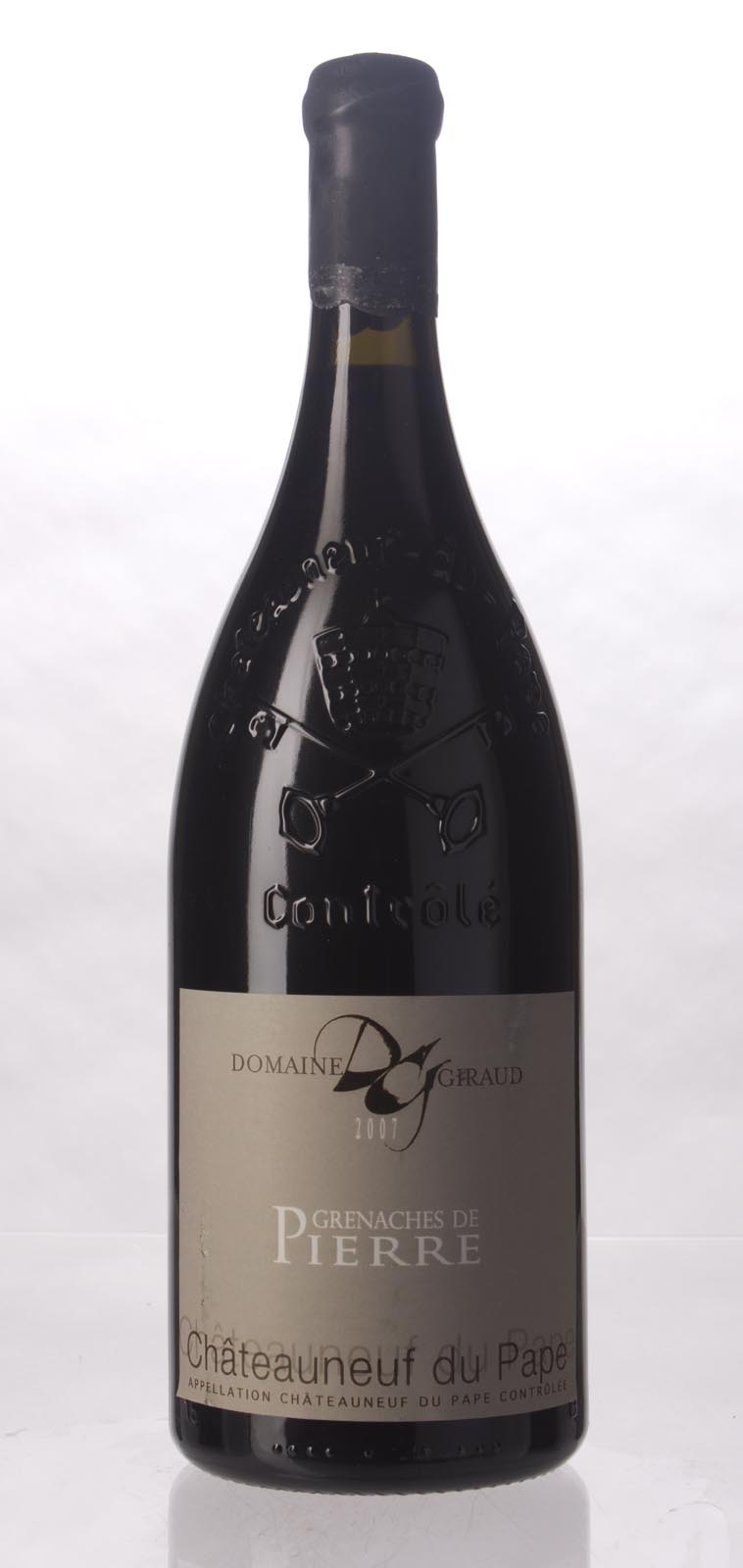 Domaine Giraud Chateauneuf du Pape Cuvee les Grenache de Pierre 2007, 1.5L (WA95+, ST94, WS96) from The BPW - Merchants of rare and fine wines.