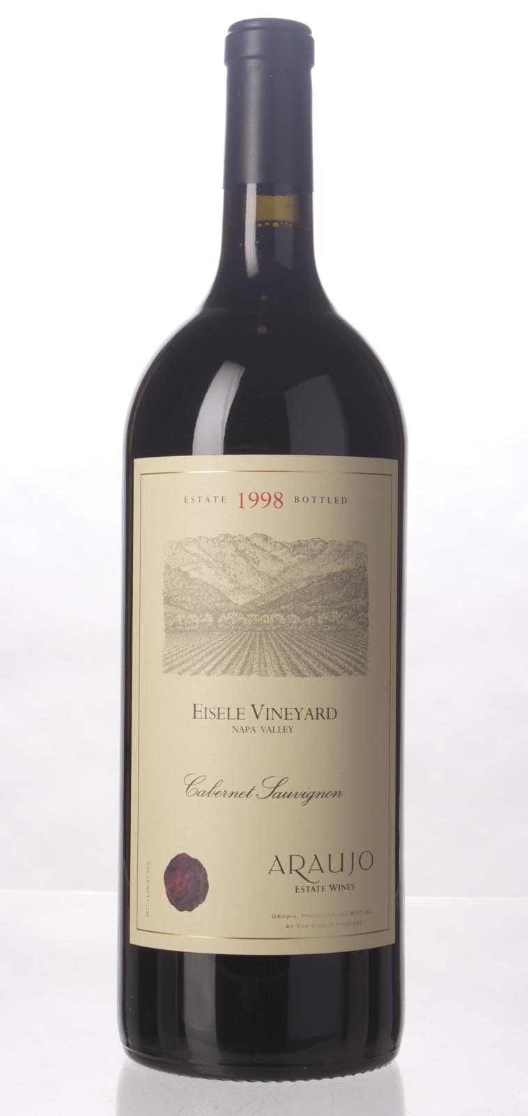 Araujo Estate Cabernet Sauvignon Eisele Vineyard 1998, 1.5L (WA92) from The BPW - Merchants of rare and fine wines.