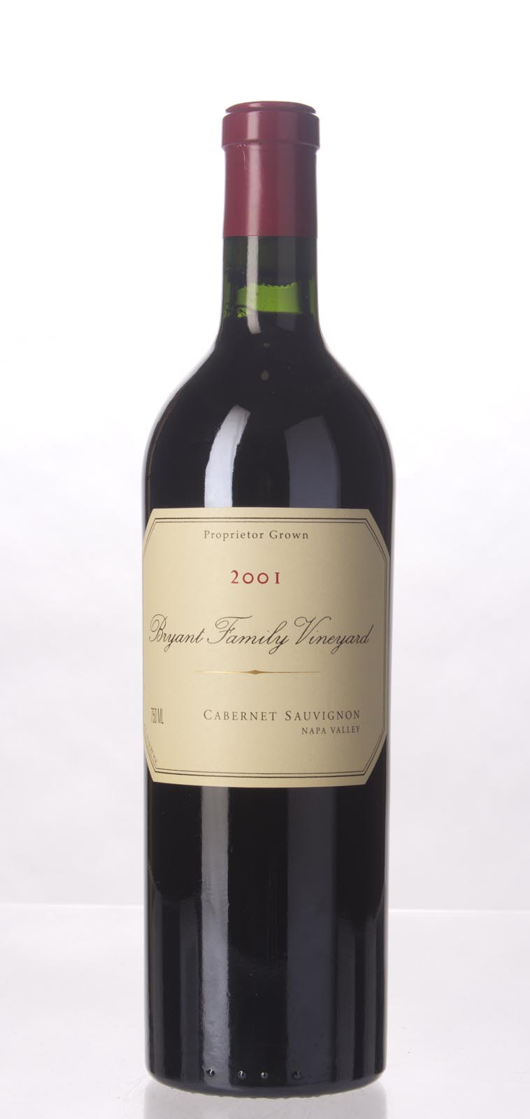 Bryant Family Vineyard Cabernet Sauvignon Pritchard Hill 2001, 750mL (ST93-96, WS91) from The BPW - Merchants of rare and fine wines.