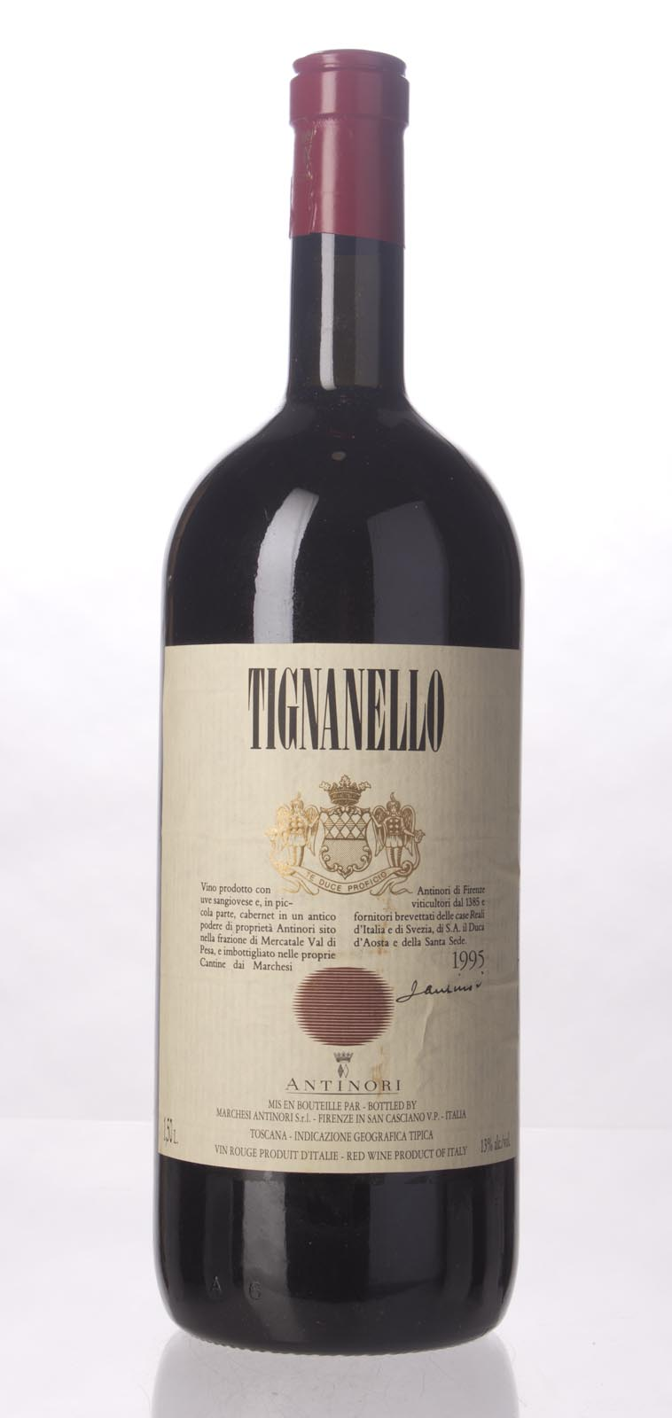 Antinori Tignanello 1995, 1.5L (ST93) from The BPW - Merchants of rare and fine wines.