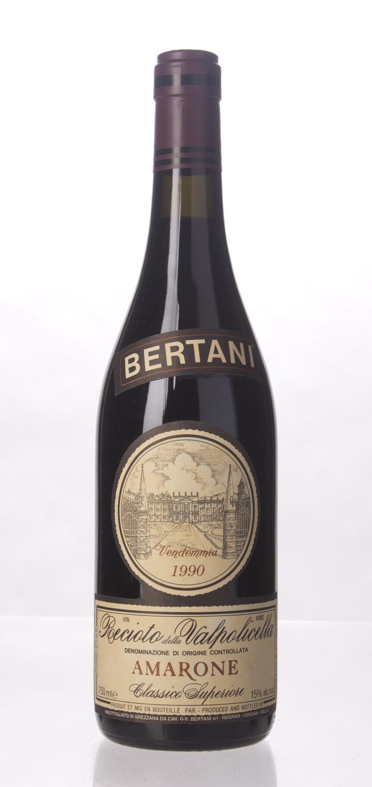 Bertani Amarone della Valpolicella 1990, 750mL () from The BPW - Merchants of rare and fine wines.