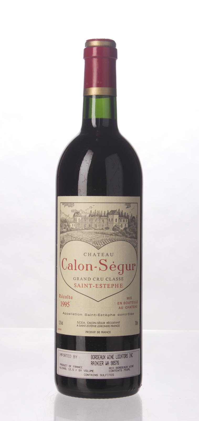 Calon Segur 1995,  (WS96) from The BPW - Merchants of rare and fine wines.