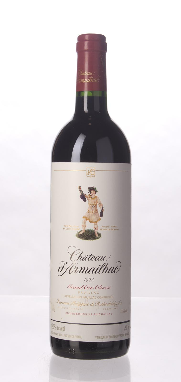 D`Armailhac 1995,  (WS92) from The BPW - Merchants of rare and fine wines.