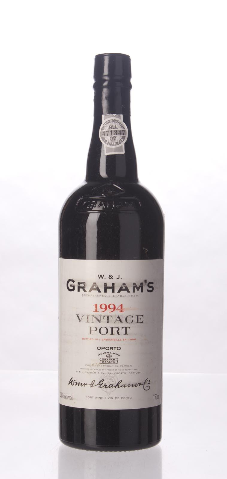 Graham Vintage Port 1994, 750mL (WA96, WS95) from The BPW - Merchants of rare and fine wines.