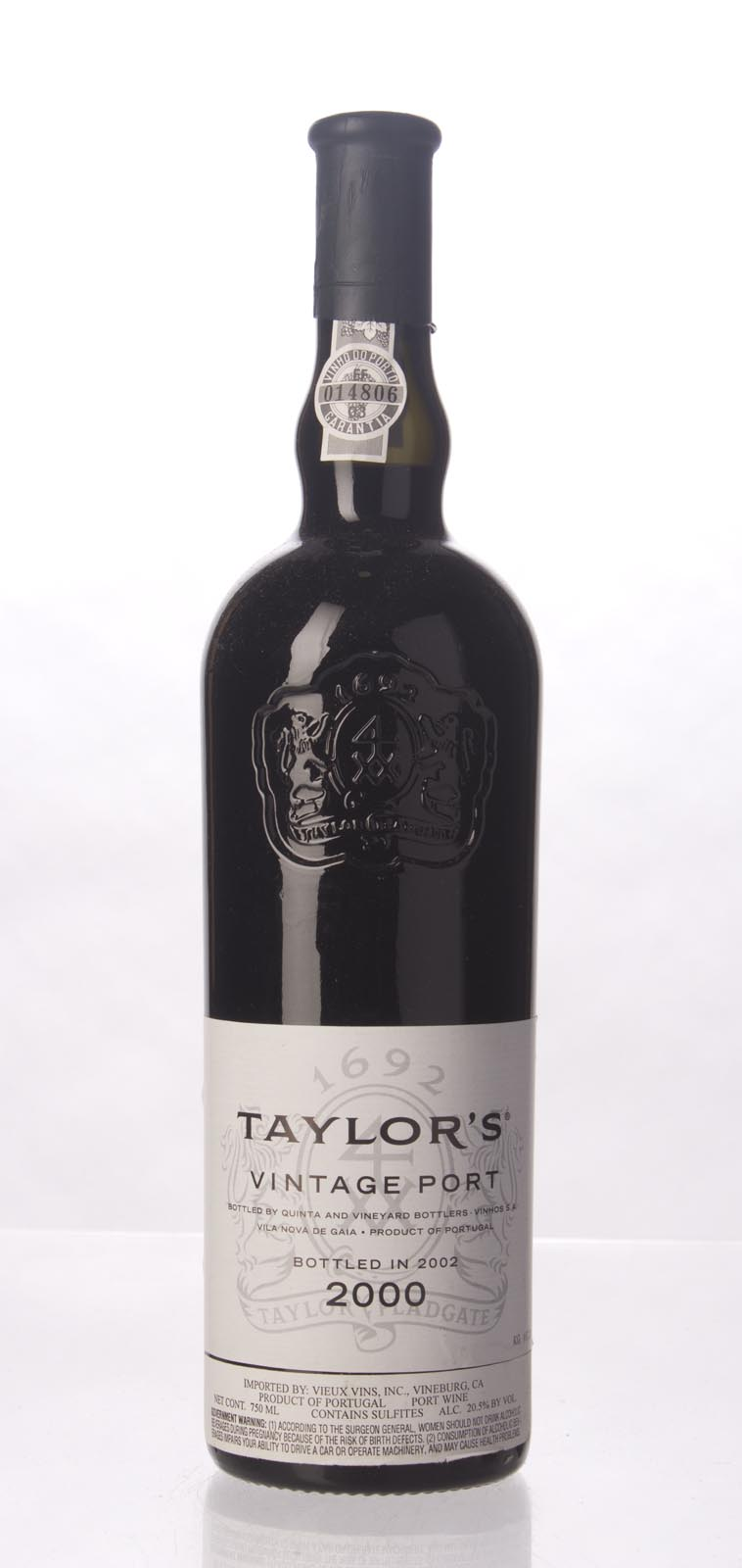 Taylor Vintage Port 2000, 750mL (WA98) from The BPW - Merchants of rare and fine wines.