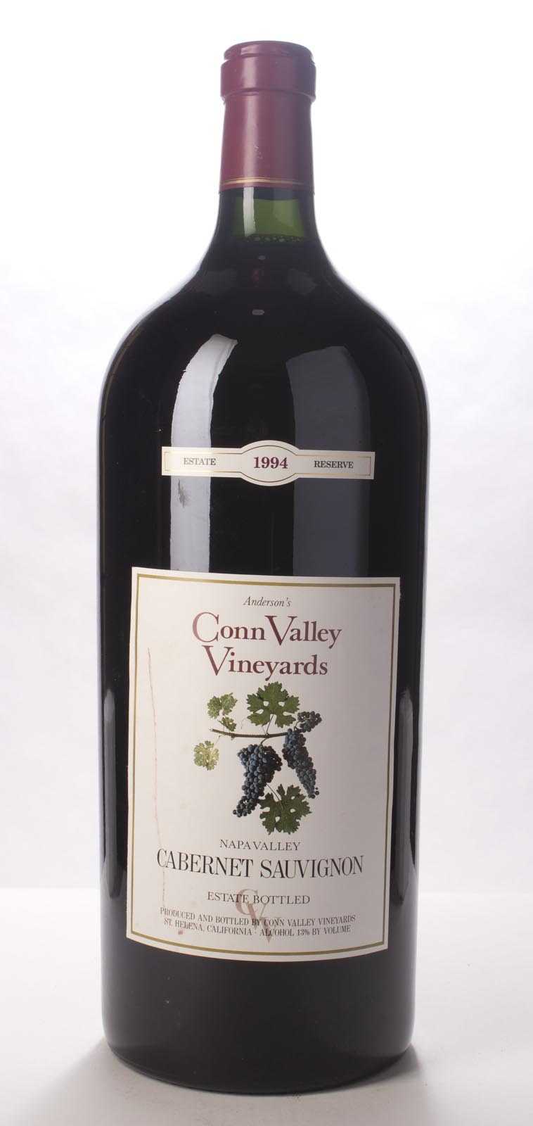 Anderson`s Conn Valley Cabernet Sauvignon Estate Reserve 1994, 6L (WS91) from The BPW - Merchants of rare and fine wines.