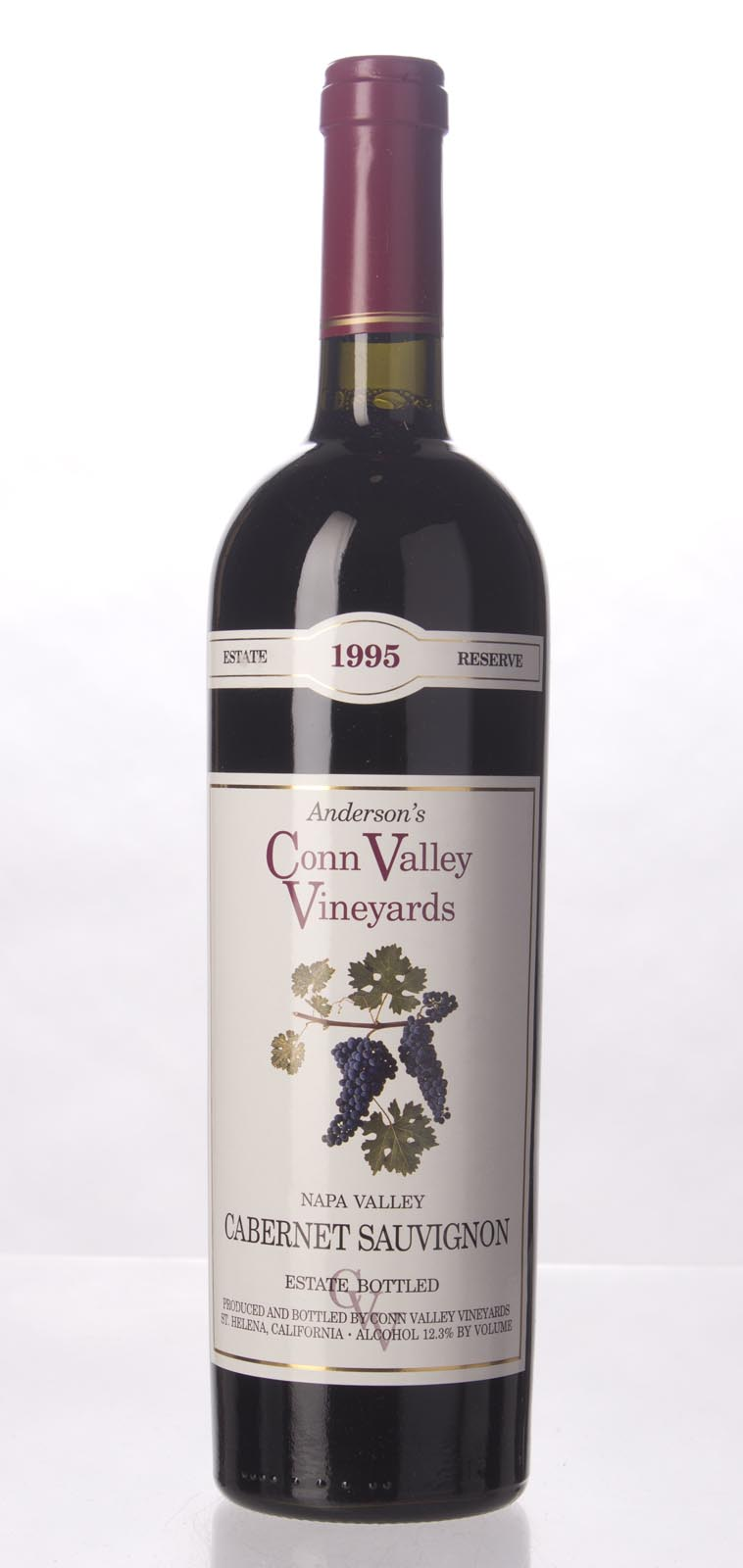 Anderson`s Conn Valley Cabernet Sauvignon Estate Reserve 1995, 750mL (WA91) from The BPW - Merchants of rare and fine wines.