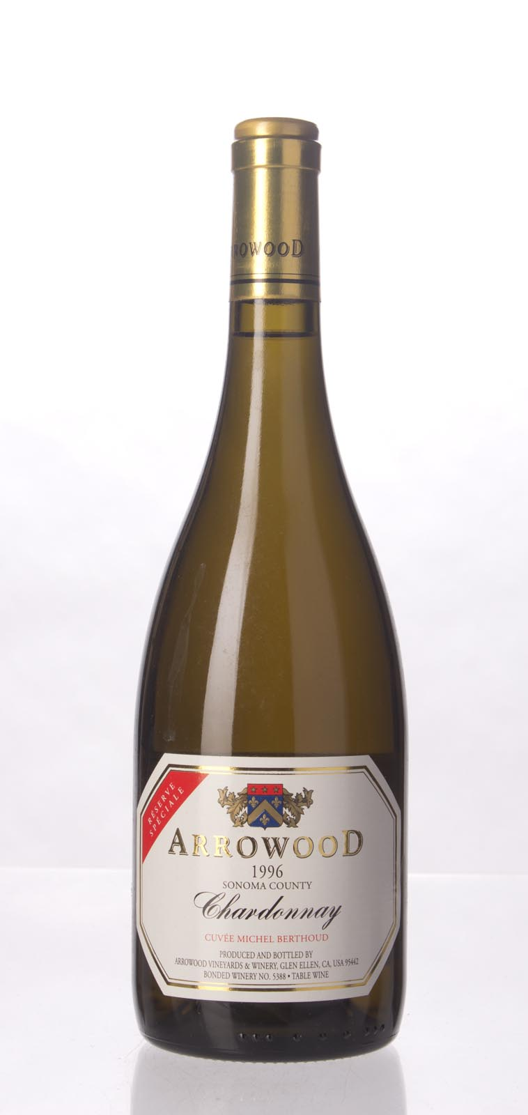 Arrowood Chardonnay Reserve Speciale 1996, 750ml () from The BPW - Merchants of rare and fine wines.