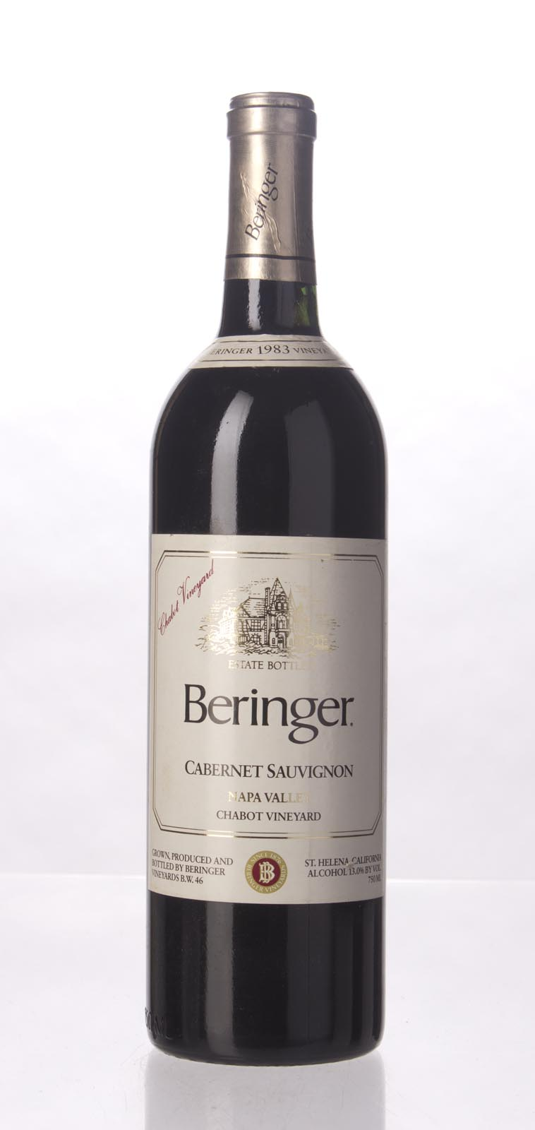 Beringer Cabernet Sauvignon Chabot Vineyard 1983, 750mL () from The BPW - Merchants of rare and fine wines.