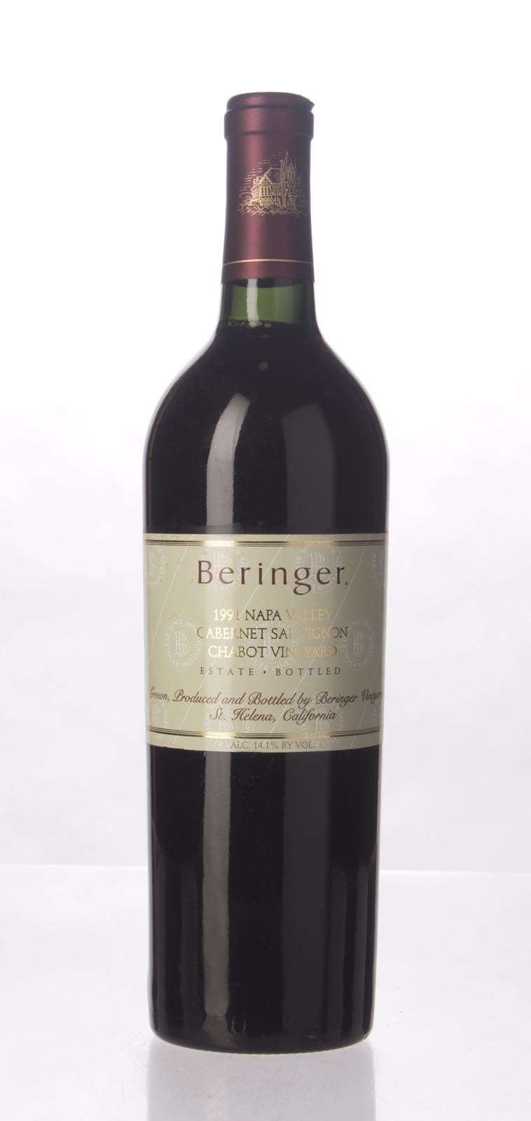 Beringer Cabernet Sauvignon Chabot Vineyard 1991, 750mL (WA96) from The BPW - Merchants of rare and fine wines.