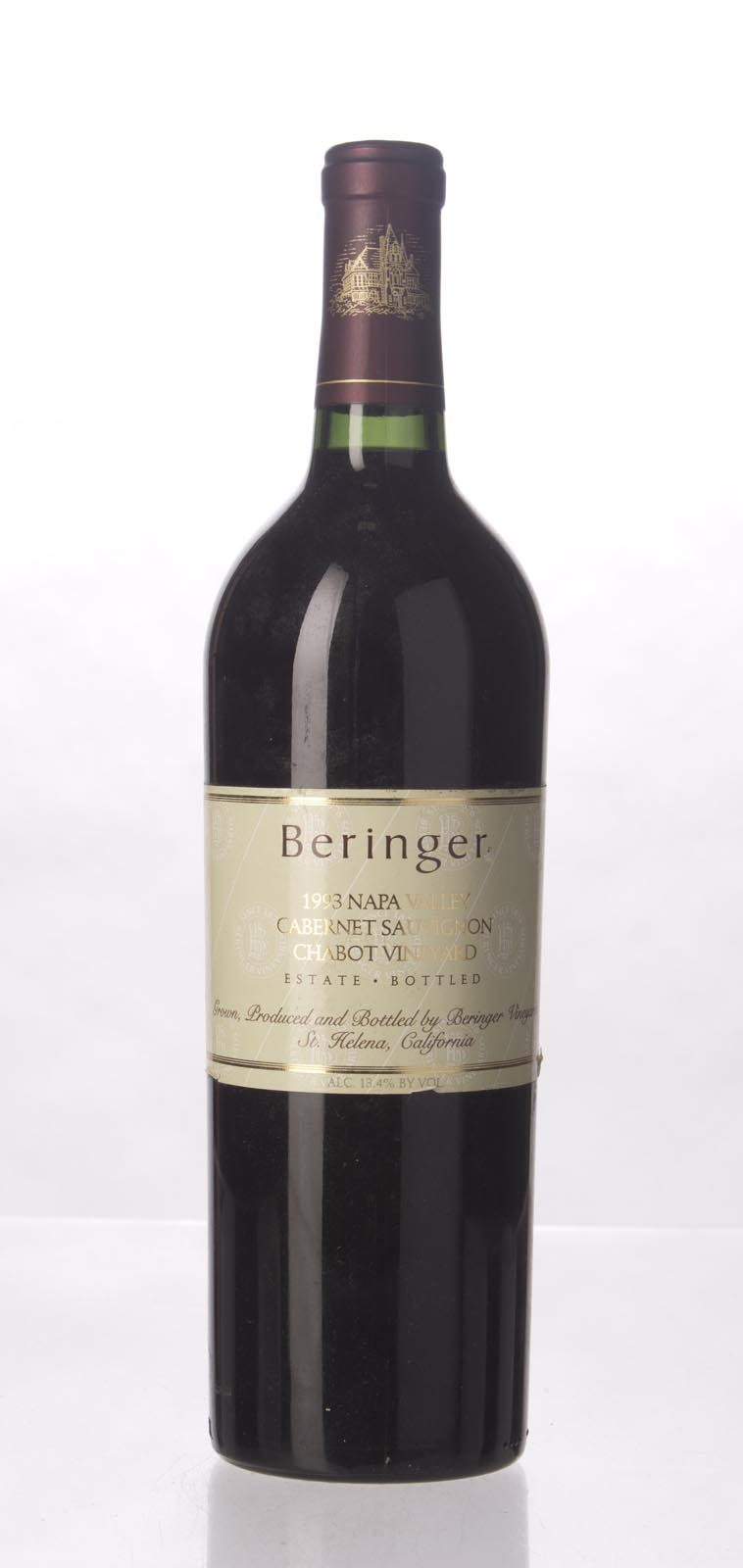 Beringer Cabernet Sauvignon Chabot Vineyard 1993, 750mL (WA90) from The BPW - Merchants of rare and fine wines.