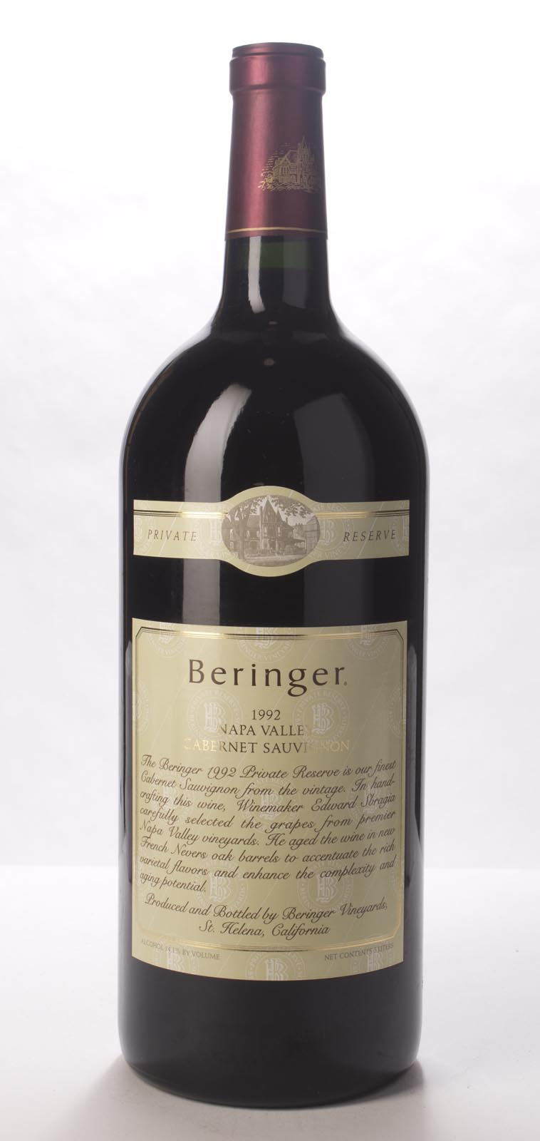 Beringer Cabernet Sauvignon Private Reserve 1992, 3L (WA96, WS95) from The BPW - Merchants of rare and fine wines.
