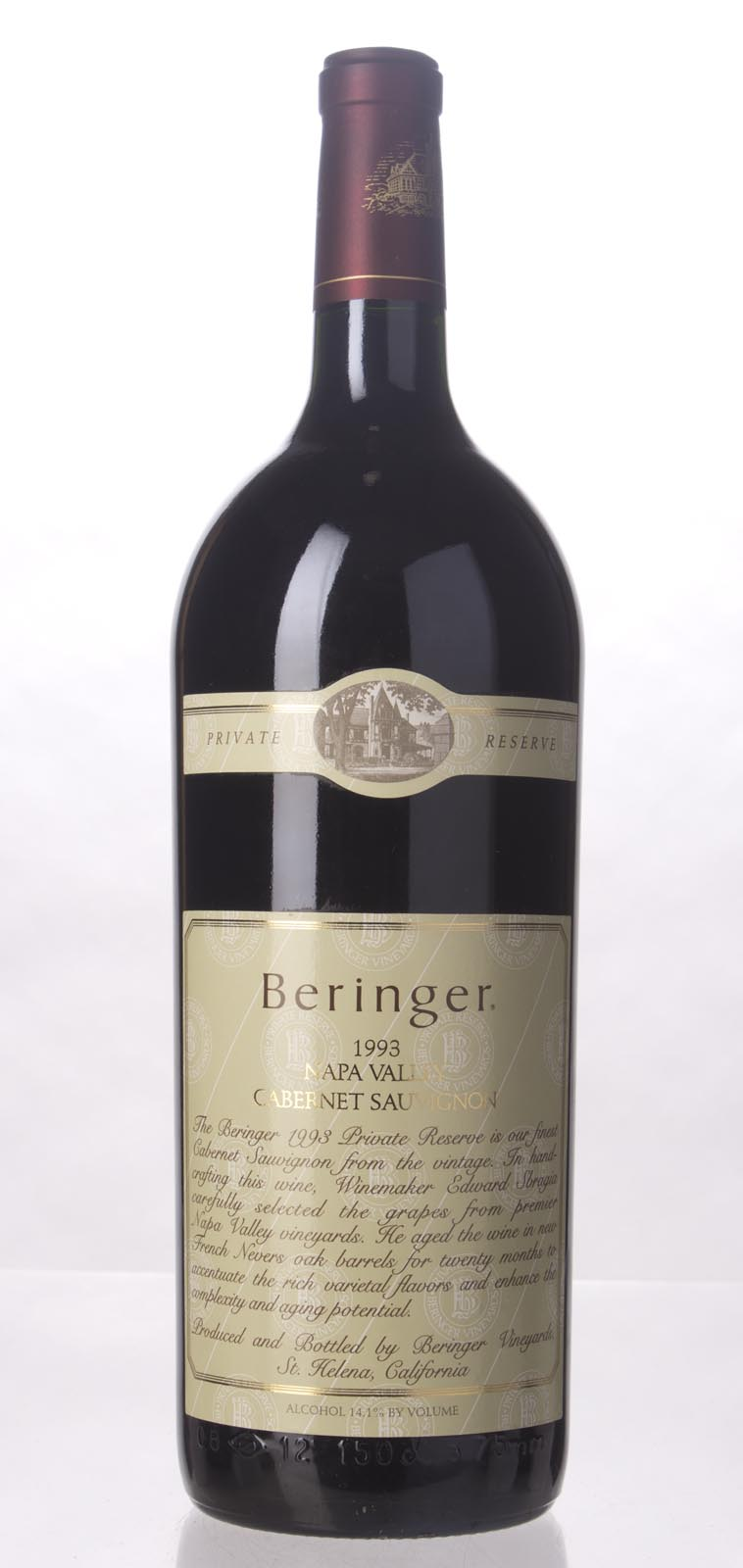Beringer Cabernet Sauvignon Private Reserve 1993, 1.5L (WA92, WS93) from The BPW - Merchants of rare and fine wines.