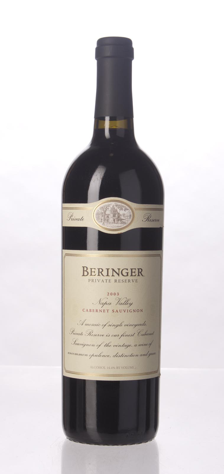Beringer Cabernet Sauvignon Private Reserve 2003, 750mL (WA93, ST92) from The BPW - Merchants of rare and fine wines.