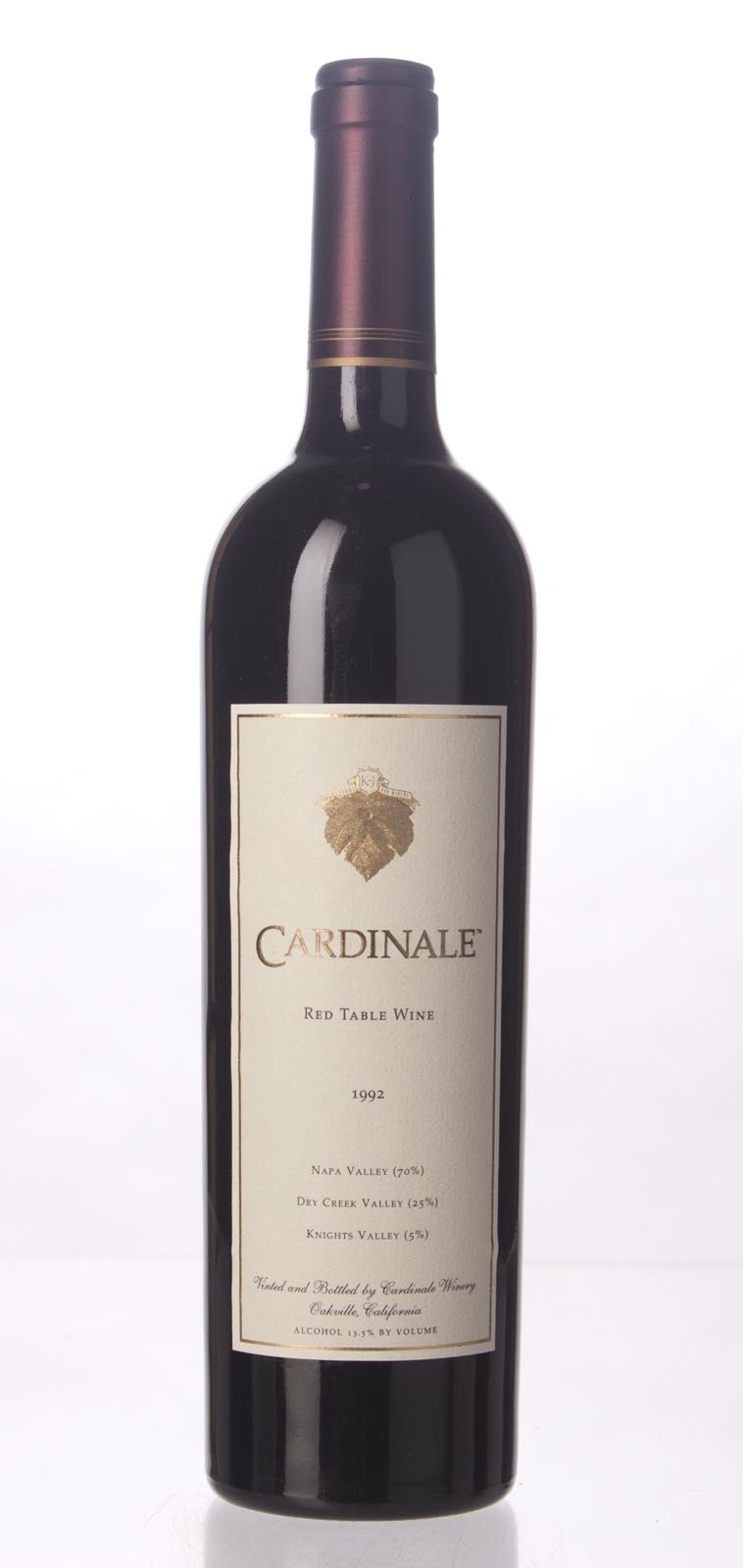 Cardinale Proprietary Red Wine 1992, 750mL (WE100) from The BPW - Merchants of rare and fine wines.