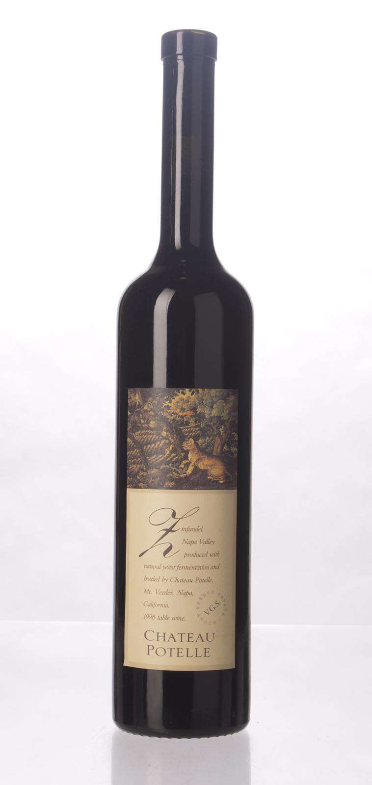Chateau Potelle Zinfandel Mount Veeder 1996, 750mL () from The BPW - Merchants of rare and fine wines.