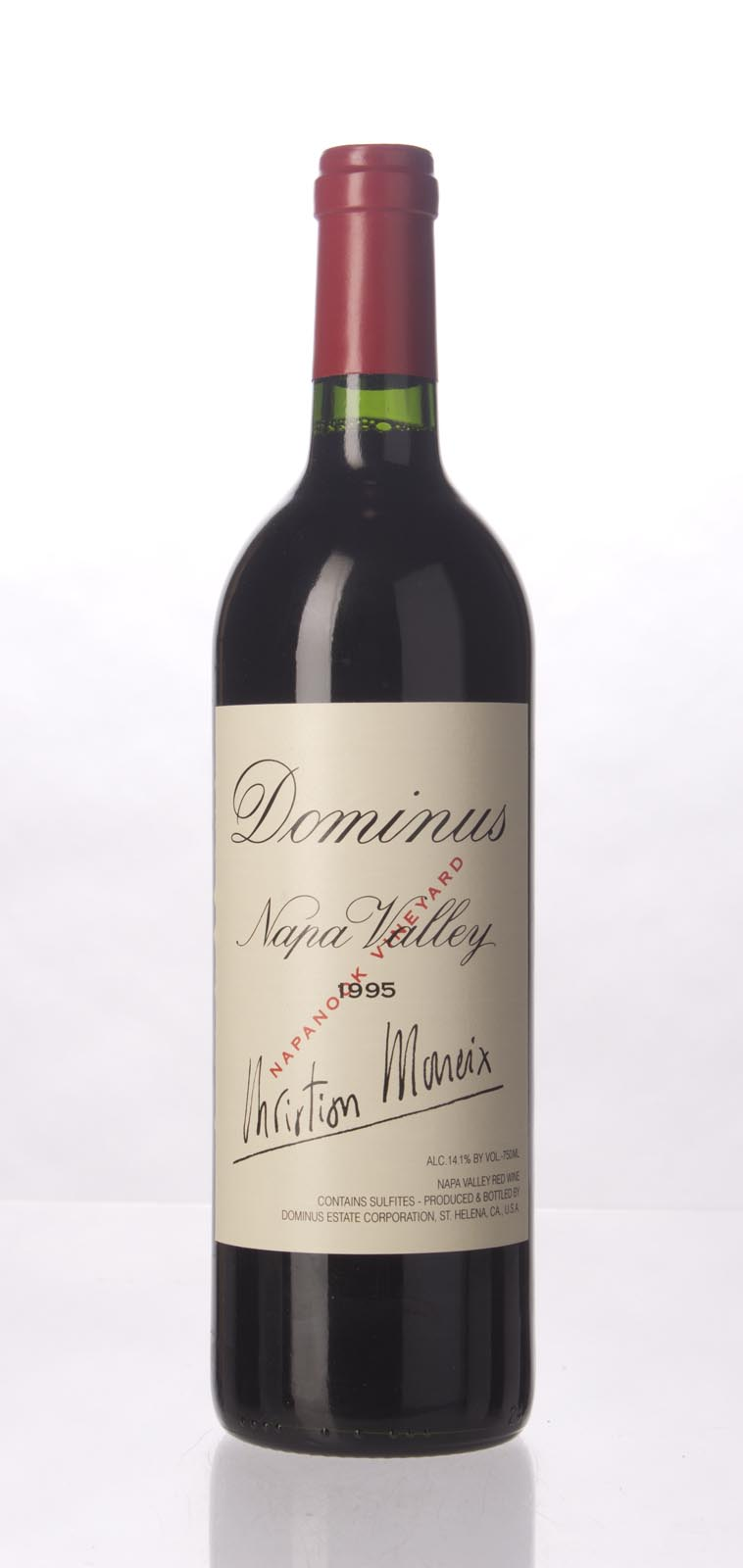 Dominus Proprietary Red Wine 1995,  (WA93, ST93) from The BPW - Merchants of rare and fine wines.