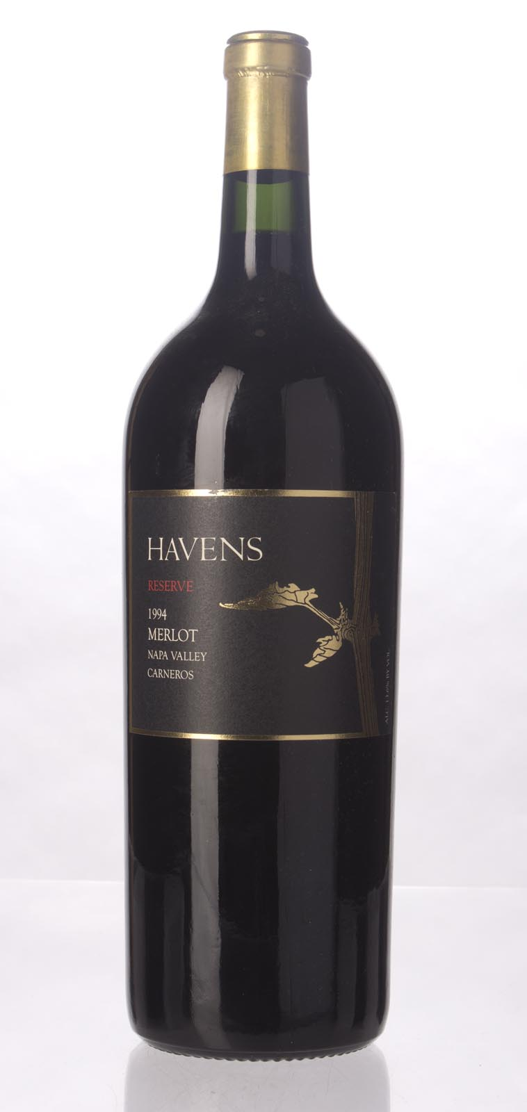 Havens Wine Cellar Merlot Reserve 1994, 1.5L () from The BPW - Merchants of rare and fine wines.