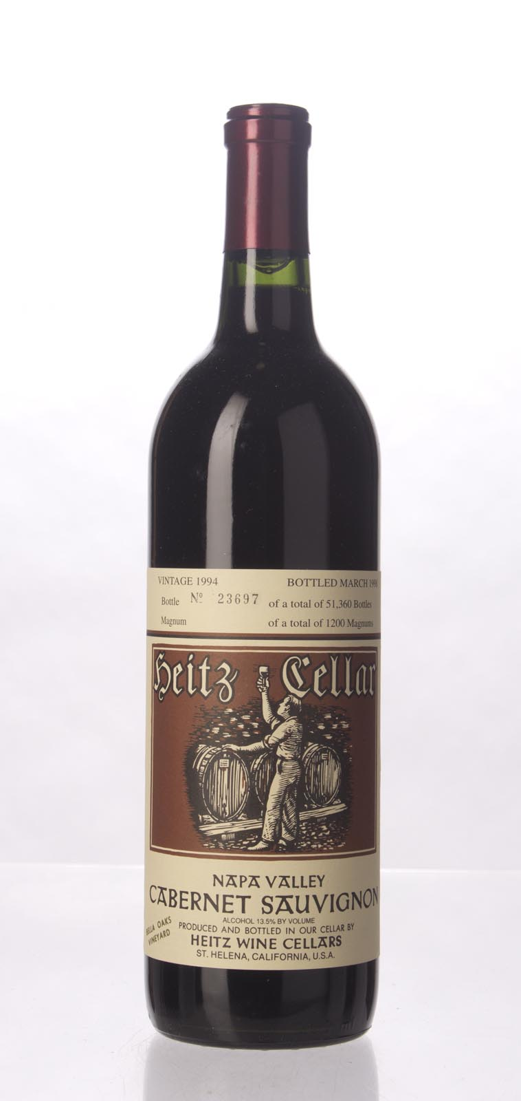 Heitz Cabernet Sauvignon Bella Oaks Vineyard 1994, 750mL () from The BPW - Merchants of rare and fine wines.