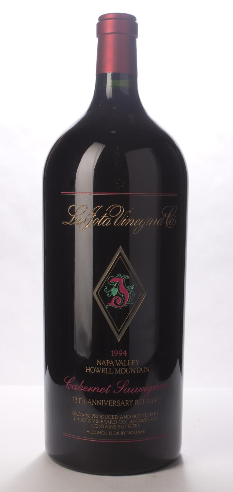 La Jota Cabernet Sauvignon Anniversary Release 1994, 6L (WA96) from The BPW - Merchants of rare and fine wines.