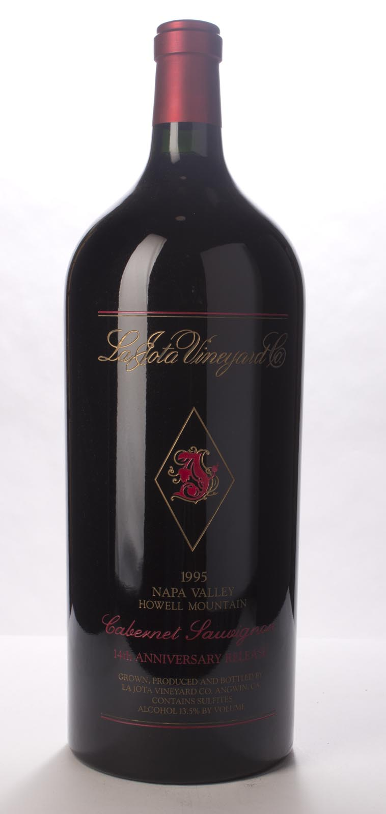 La Jota Cabernet Sauvignon Anniversary Release 1995, 6L (WA94) from The BPW - Merchants of rare and fine wines.