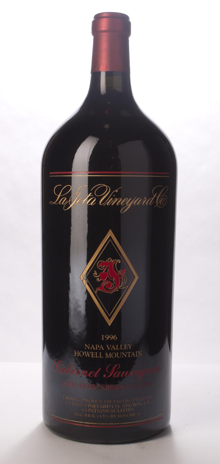 La Jota Cabernet Sauvignon Anniversary Release 1996, 6L (WA96) from The BPW - Merchants of rare and fine wines.