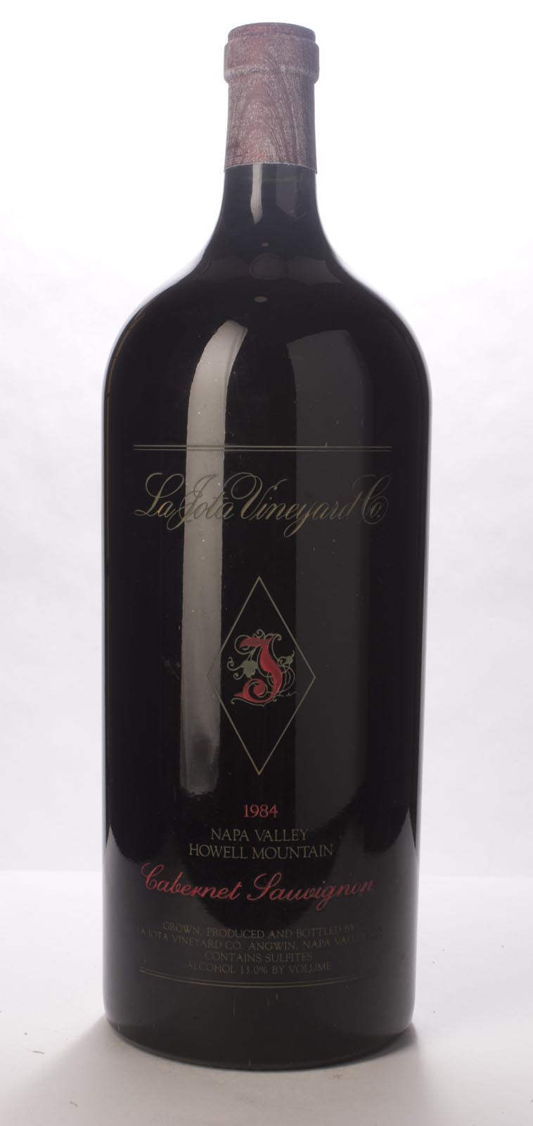 La Jota Cabernet Sauvignon Howell Mountain 1984, 6L () from The BPW - Merchants of rare and fine wines.