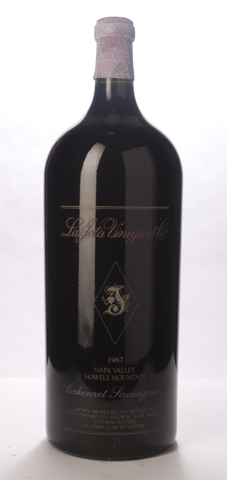 La Jota Cabernet Sauvignon Howell Mountain 1987, 6L (WS95) from The BPW - Merchants of rare and fine wines.