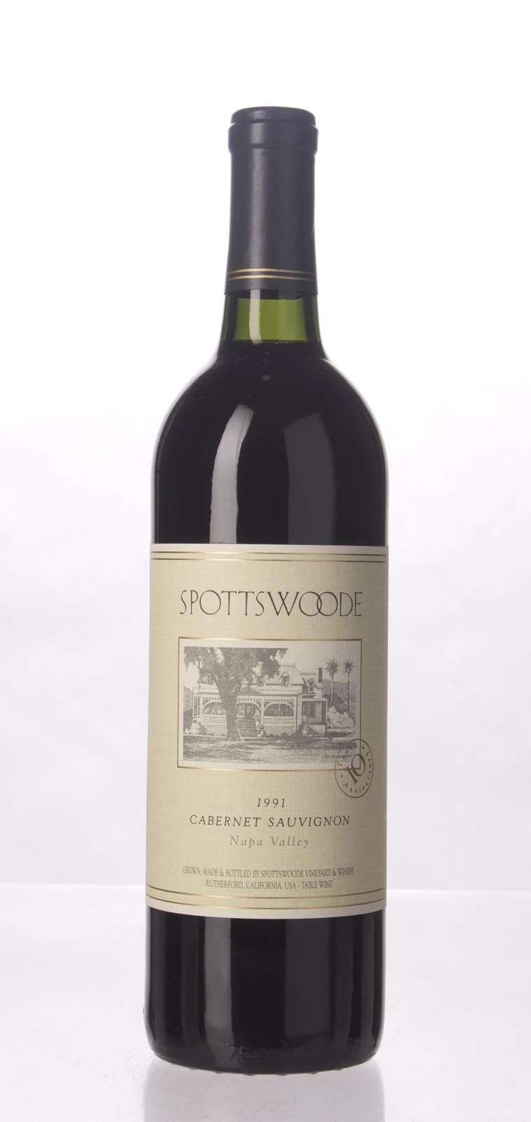 Spottswoode Cabernet Sauvignon Napa Valley 1991, 750mL (WS94) from The BPW - Merchants of rare and fine wines.