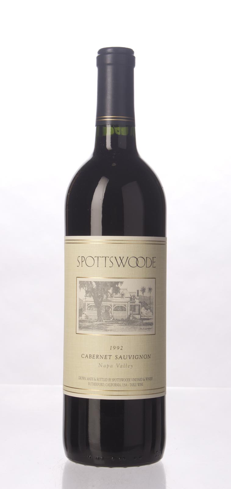 Spottswoode Cabernet Sauvignon Napa Valley 1992, 750mL (WS93) from The BPW - Merchants of rare and fine wines.