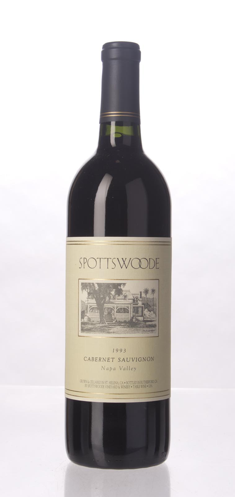 Spottswoode Cabernet Sauvignon Napa Valley 1993, 750mL (WA92, WS93) from The BPW - Merchants of rare and fine wines.