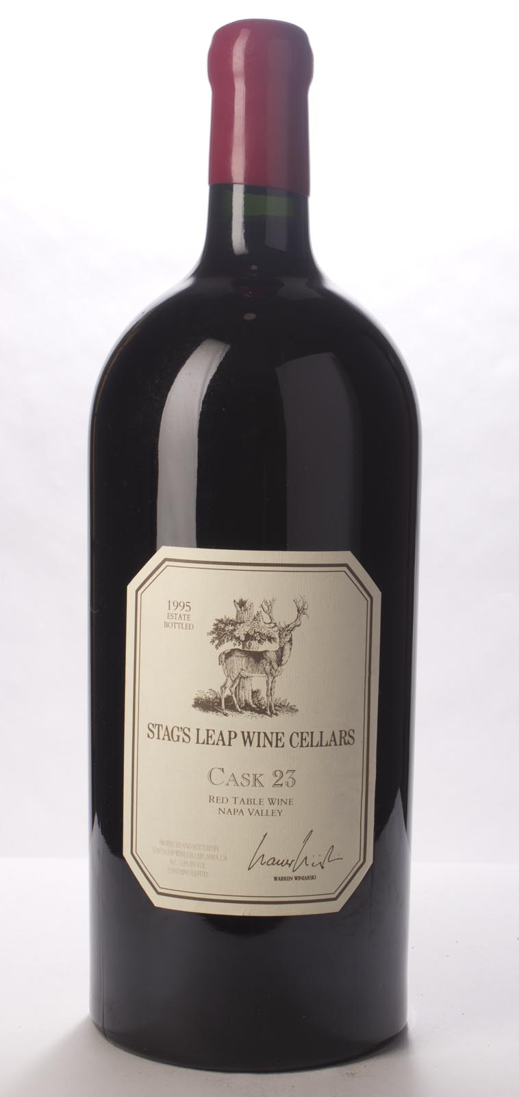 Stag`s Leap Wine Cellars Proprietary Red Cask 23 1995, 6L (WS94) from The BPW - Merchants of rare and fine wines.