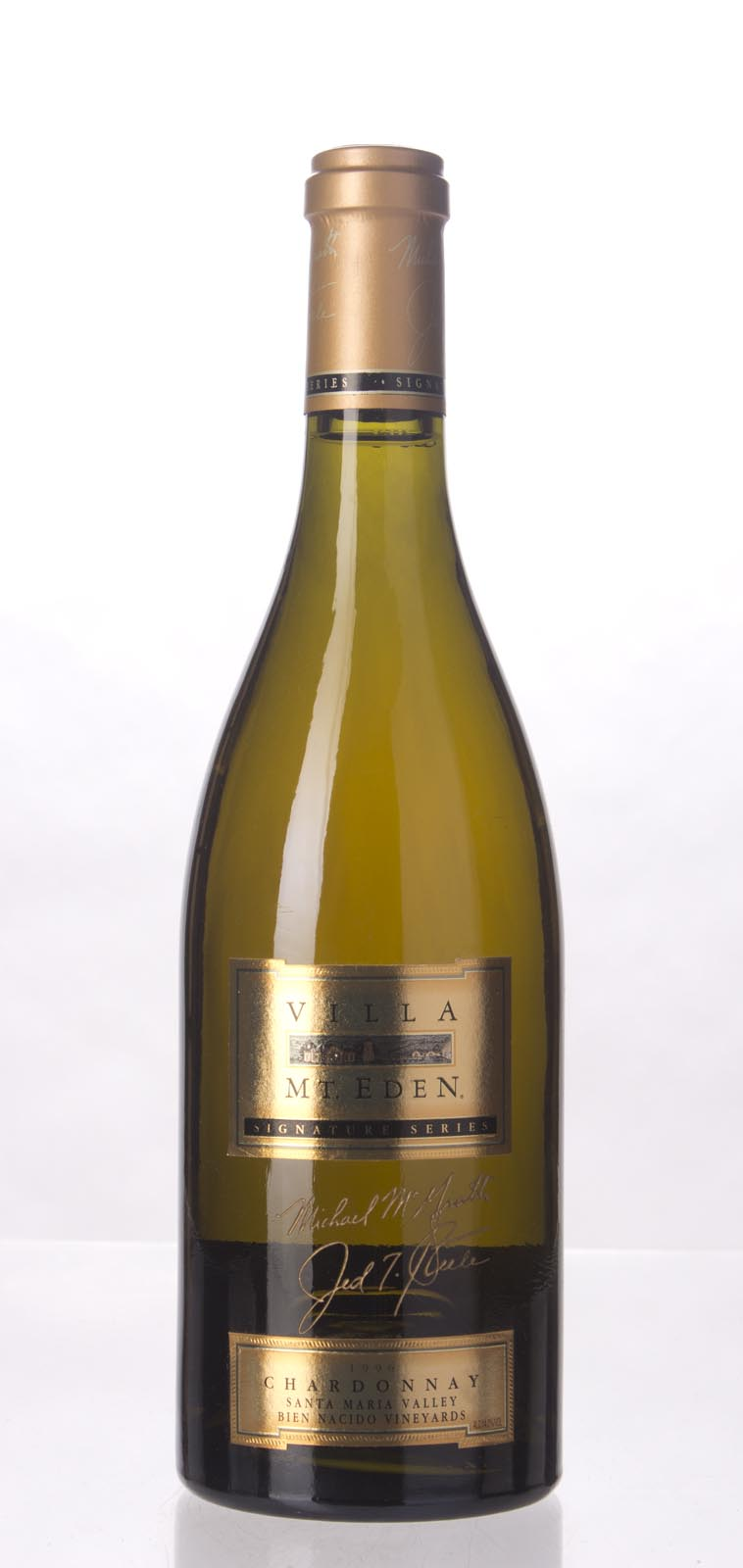 Villa Mt. Eden Chardonnay Signature Series Bien Nacido Vineyard 1996, 750mL (WS95) from The BPW - Merchants of rare and fine wines.